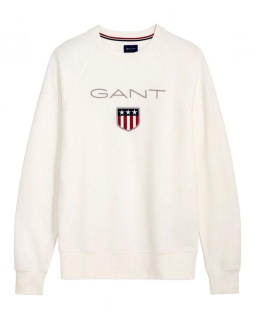 Gant Shield C-Neck Sweat Off White
