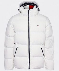 Tommy Jeans Essential Down Jacket White