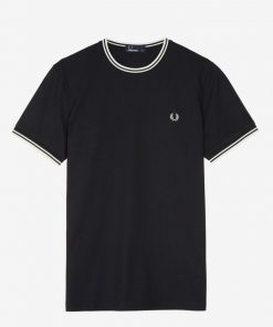 Fred Perry Twin Tipped Tshirt Black