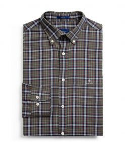Gant D2. Tp Oxford Check Shirt Brown