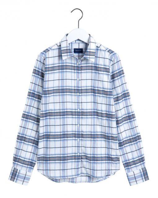 Gant D1. Check Twill Shirt Natural White