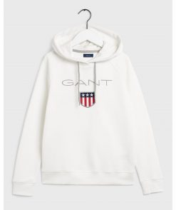 Gant Shield Sweat Hoodie Natural White