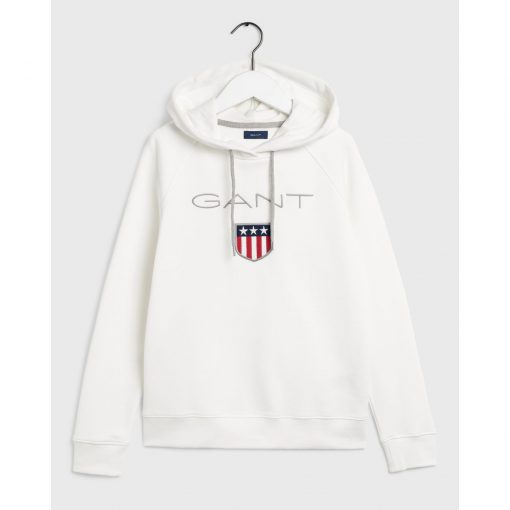 Gant Shield Sweat Hoodie Natural White