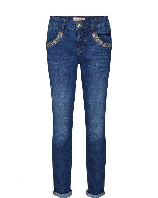 Mos Mosh Naomi Paisley Jeans Dark Blue