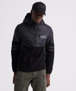 Superdry Polar International Zip Hood Black