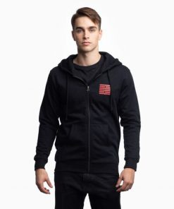 Billebeino Zip Hoodie With Brick Print Black