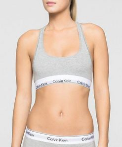 Ck Bralette Modern Cotton Grey
