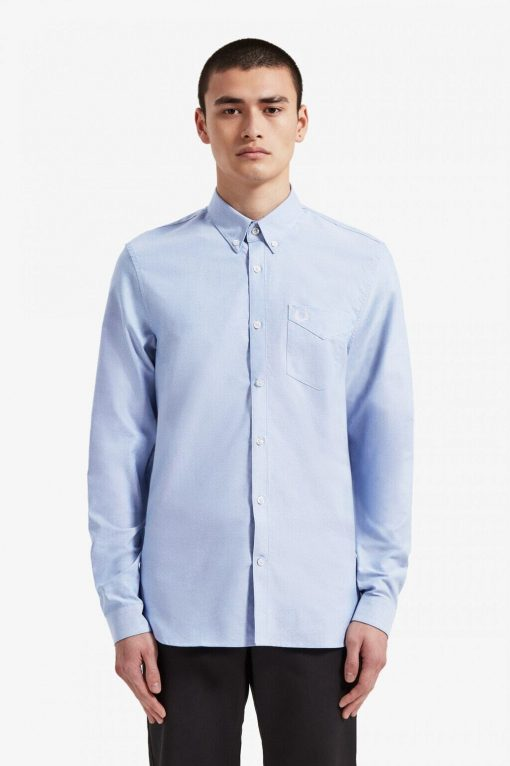 Fred Perry Oxford Shirt Pale Blue