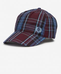 Fred Perry Winter Tartan Cap Wine