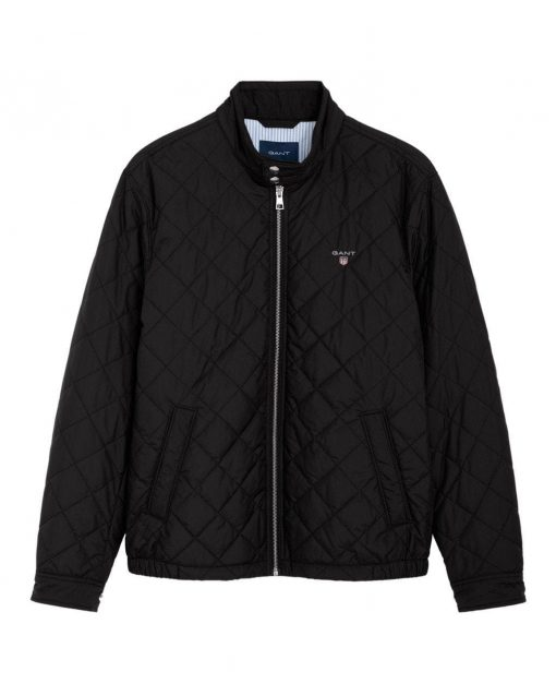 Gant O1. The Quilted Windcheater Black