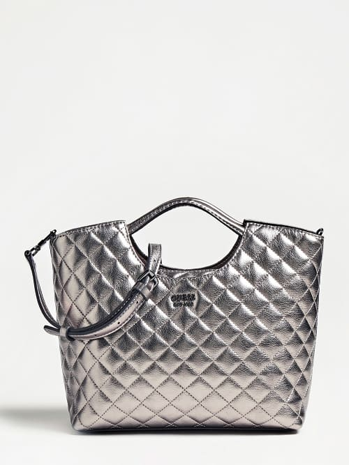 Guess Miriam Small Shopper Pewter Silver