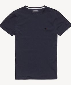 Hilfiger New Stretch C-Nk T-Shirt Dark Blue