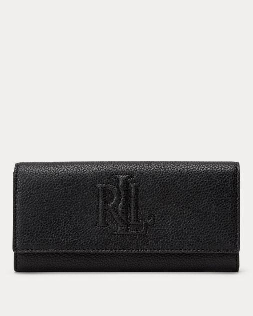 Lauren Flap Continental Wallet Lrg Anste Black
