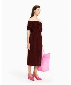 Marimekko Solid Dress Wine