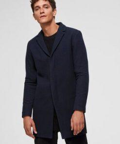 Selected Brove Wool Coat Blue Blue