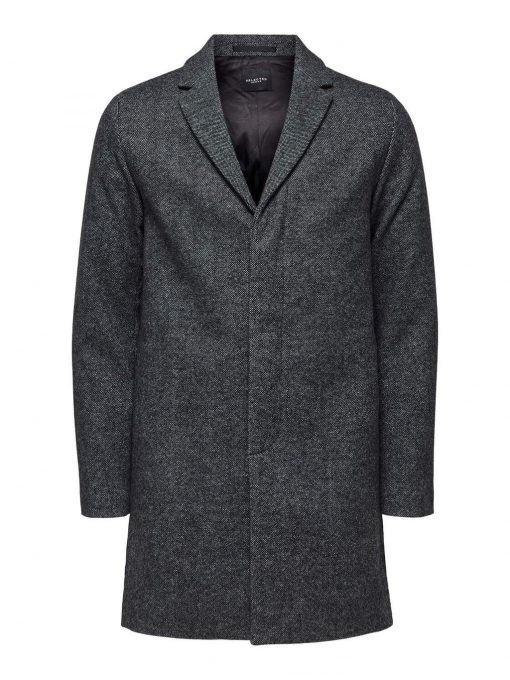 Selected Brove Wool Coat Grey Gray