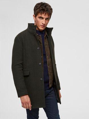 Selected Mosto Wool Coat Green Green