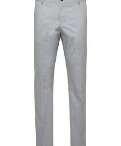 Selected Slim-Mylologan Light Gre Grey Gray