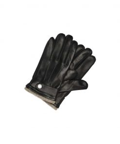 Selected Tim Leather Glove Black Black