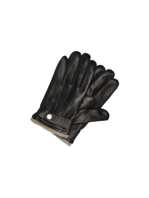 Selected Tim Leather Glove Black Black