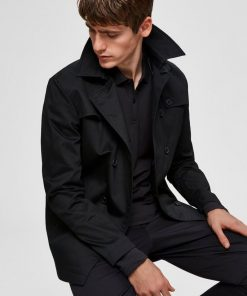 Selected Timeless Coat Black Black