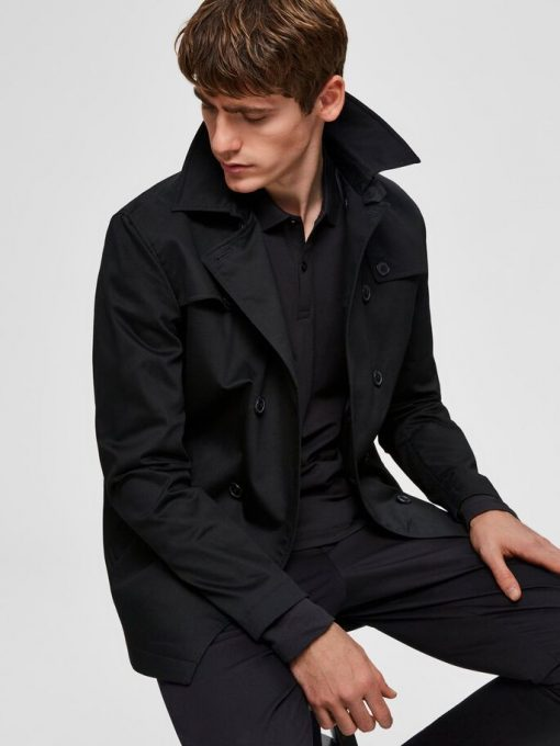Selected Timeless Coat Black Black