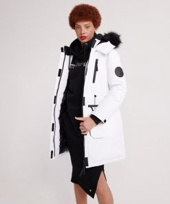 Superdry Aiko Everest Icon Parka White