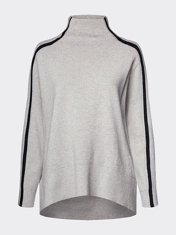 Marco Polo Situazione Consumare  Buy Tommy Hilfiger Cacie Mock-Nk Swtr Grey | Scandinavian Fashion Store