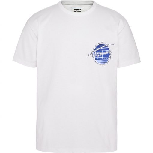 Tommy Jeans Back Graphic Tee White