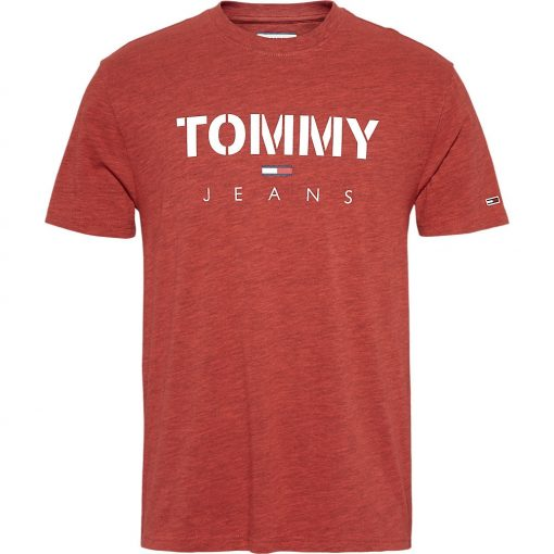 Tommy Jeans Tjm Tommy Textured Tee Red