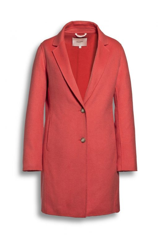 Beaumont Summer Wool Blazer Coat Coral Red