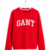 Gant Arch Logo C-Neck Sweat Red