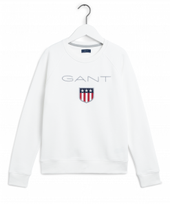 Gant Shield Logo C-Neck Sweat Natural White