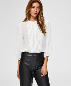 selected femme lace tri shirt