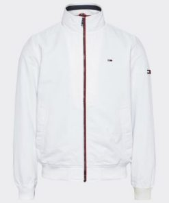 Tommy Jeans Flag Patch Bomber Jacket White