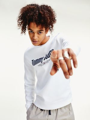 Tommy Jeans Tjm Essential Graphic Crew White