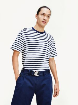 Tommy Jeans Tommy Stripe Tee Navy