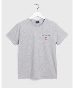 Gant Medium Shield T-Shirt Grey