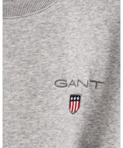 Gant Medium Shield Crew Neck Grey