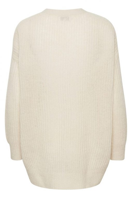 Part Two Aggie Cardigan White