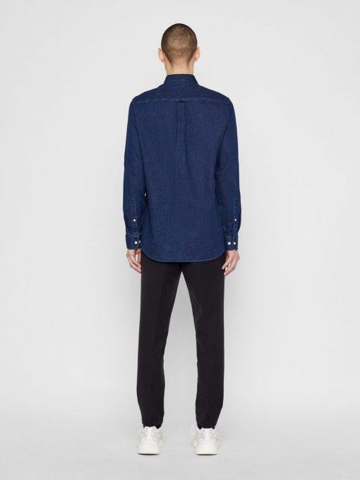 J.Lindeberg Stretch Denim Shirt Blue