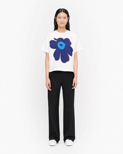 Marimekko Vaikutus Unikko T-shirt Blue