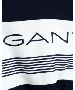 Gant Stripe C-Neck Sweat Blue