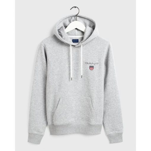 Gant Medium Shield Hoodie Grey