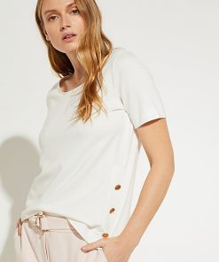Comma Button Top White