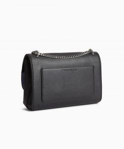 Calvin Klein Sculpted Flap Shoulder Bag Black