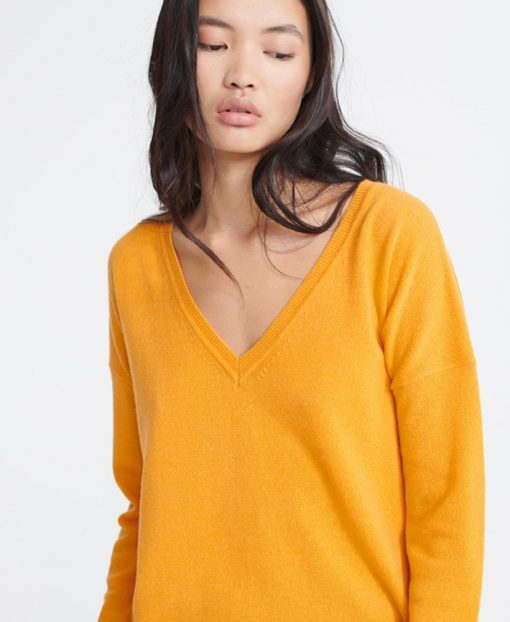 Superdry Edit V-Neck Premium Knit Yellow