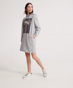 Superdry Photographic Sweater Dress Grey