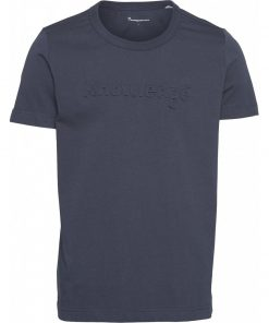 Knowledge Cotton Apparel Alder Tee Navy
