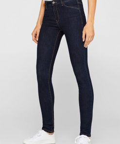 Esprit High Rise Slim Denim Jeans Blue
